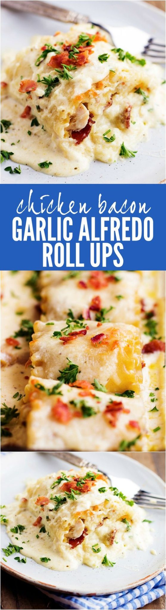 Chicken Recipes - Perfect Portion Chicken Bacon Garlic Alfredo Pasta Roll-Ups Recipe via The Recipe Critic #perfectportion #chickenrecipes #popularchickenrecipes #chicken #easychickenrecipes #chickenbreastrecipes #easylunches #easydinners #simplefamilymeals #simplefamilyrecipes #simplerecipes