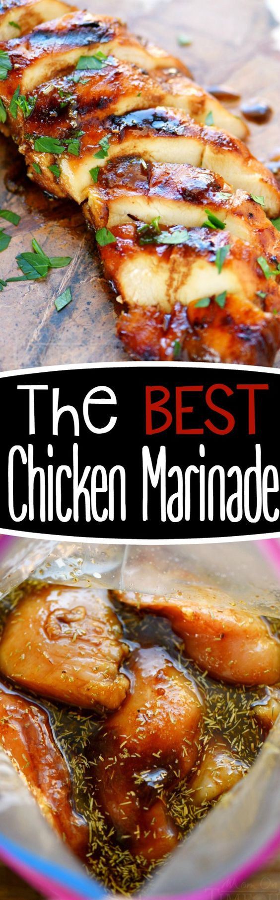 Chicken Recipes - The Best Chicken Marinade recipe ever! Your chicken will be BURSTING with FLAVOR and perfectly moist. Amazing Recipe via Mom on Timeout #chickenrecipes #popularchickenrecipes #chicken #easychickenrecipes #chickenbreastrecipes #easylunches #easydinners #simplefamilymeals #simplefamilyrecipes #simplerecipes