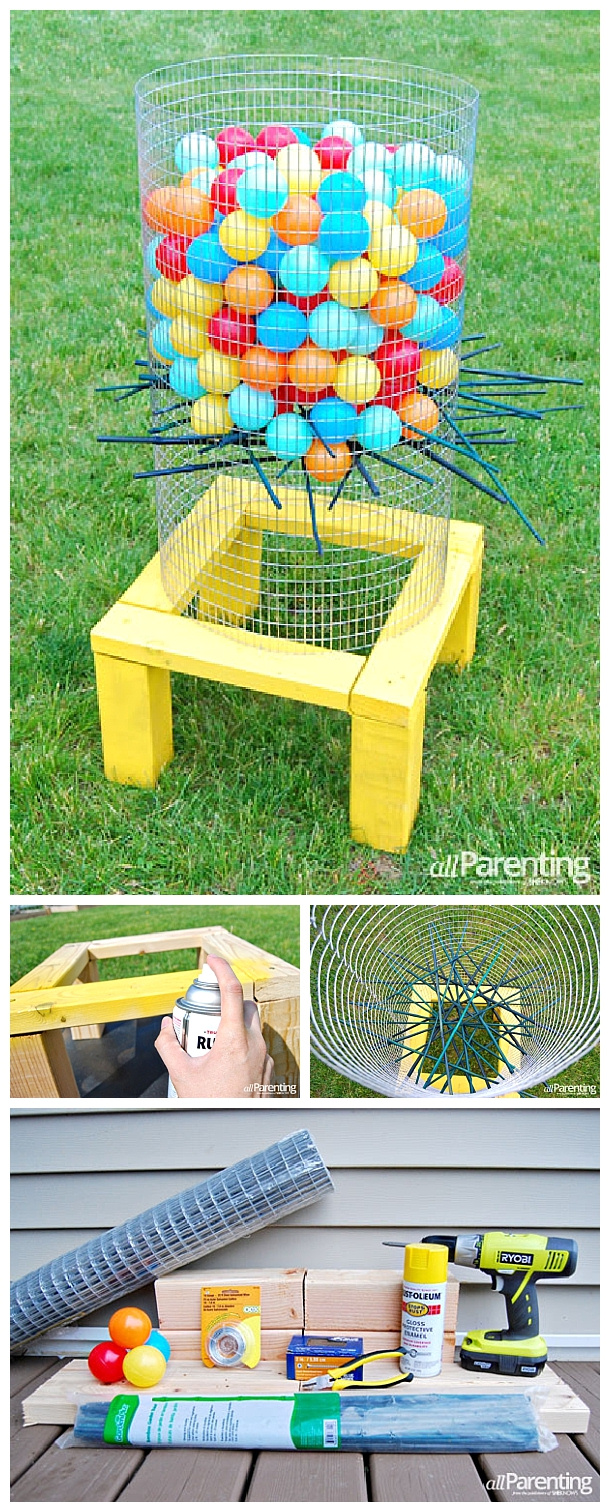 Do it yourself outdoor party games the best backyard diy projects outdoor games diy giant backyard kerplunk game tutorial fun for barbecues solutioingenieria Choice Image