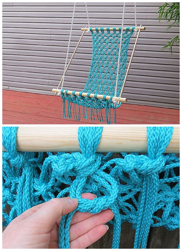 Do It Yourself Projects - DIY Macrame Hammock Chair Tutorial via eHow