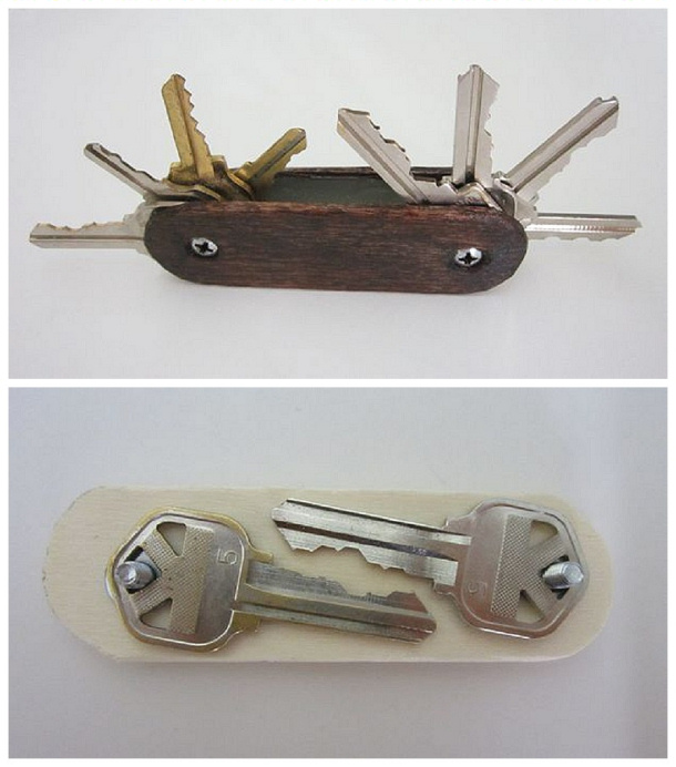 Do It Yourself Projects - DIY Swiss Army Key Ring Tutorial Gift Idea via instructables