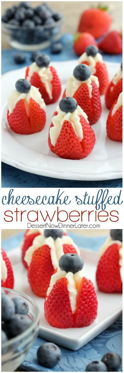 Do it yourself 4th of july the best diy patriotic red white and do it yourself 4th of july party red white and blue cheesecake stuffed strawberries dessert solutioingenieria Image collections