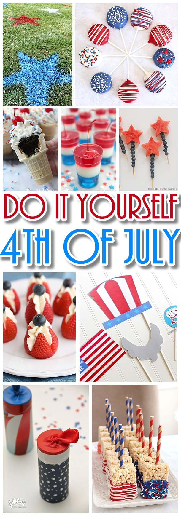 Do it Yourself 4th of July Red White and Blue Party - The BEST Recipes - Games - Decorations and fun ideas for your DIY Independence Day Party #4thofjuly #independenceday #allamericanparty #redwhiteandblue #patrioticparty #patriotic #4thofjulyparty