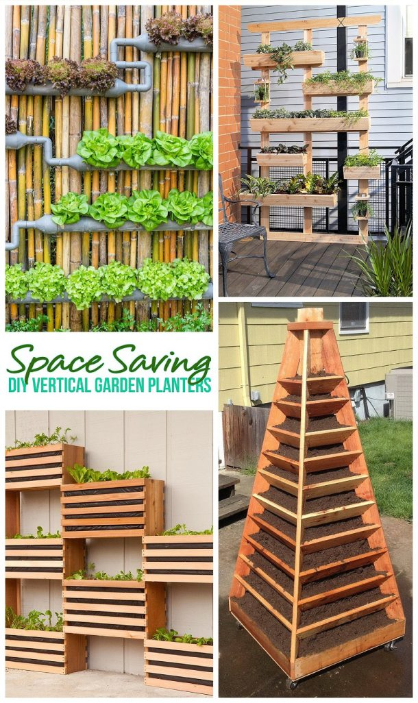 Space Saving DIY Tutorials to Create Pretty and Functional Vertical Garden Planters - Outdoor DIY Projects #verticalgardens #diysmallgarden