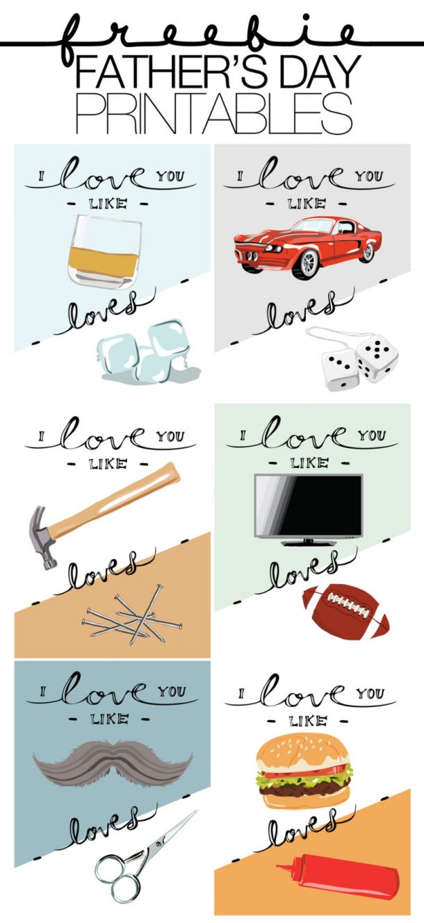 Fathers Day Cards FREE Printables Paper Crafts - Tons of COOL DIY FREEBIES Dad will love - use as Cards - Prints to Frame or Awesome Gift Tags via The Paper Curator