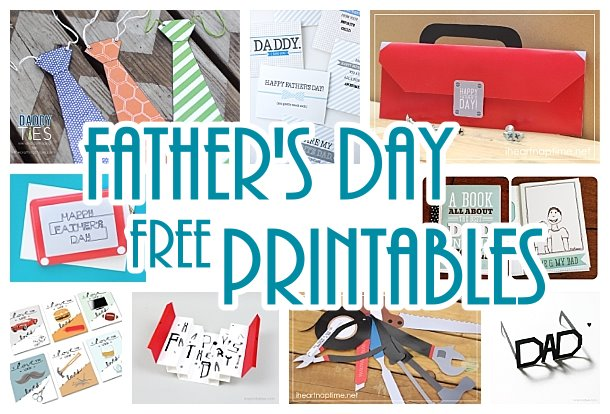 Fathers Day DIY Cards - Free Printables and Paper Crafts - so many cute ideas for Dad this year