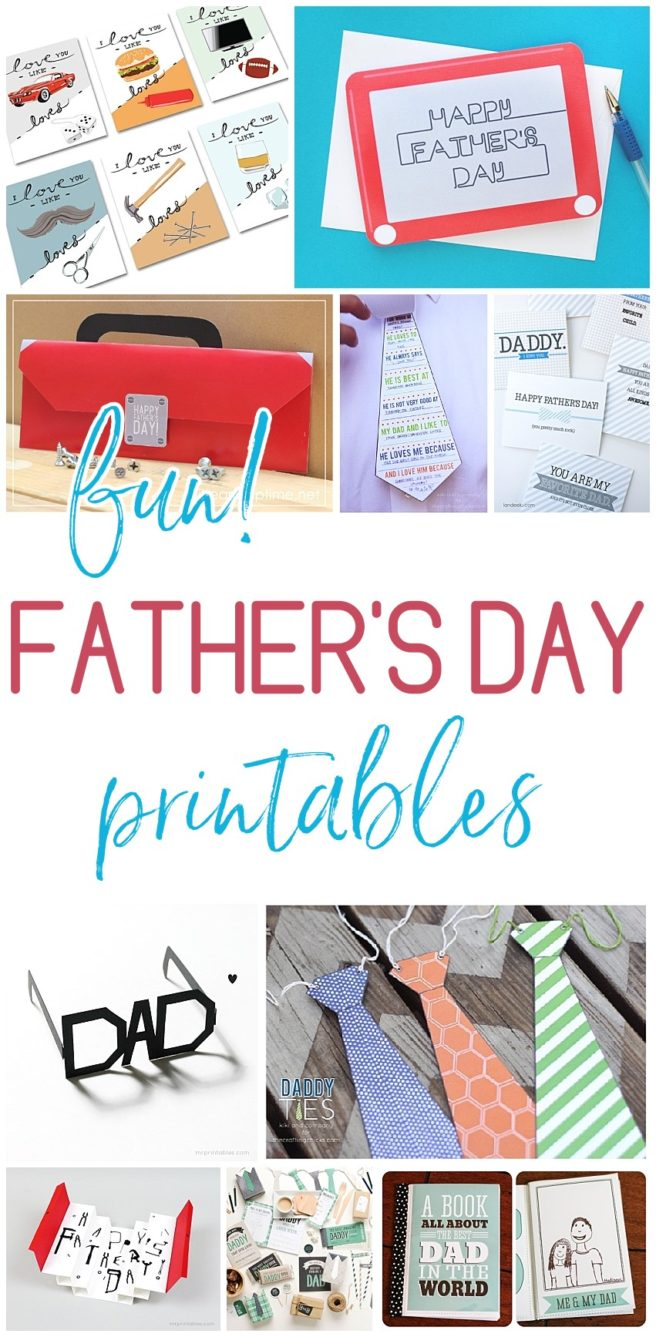 Free and Fun Father's Day Printables - Cards and Paper Crafts - EASY DIY Projects and Activities Perfect for kids to make to attach to gifts for Dads and Grandpas - Dreaming in DIY #fathersday #fathersdaycards #fathersdayprintables #cardsfordad #cardsforgrandpas #fathersdayparty