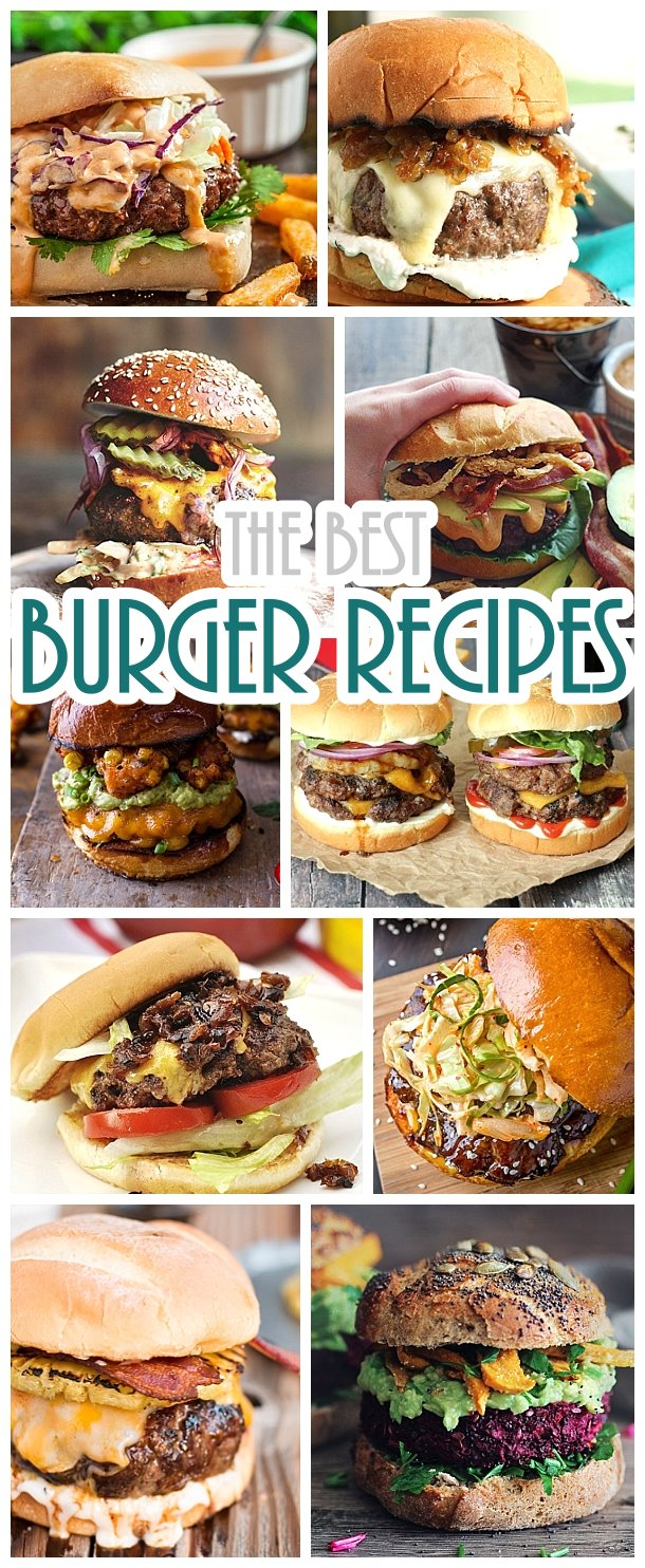 Hamburger Recipes - The BEST Burger Recipes for your grill or griddle - your next barbecue will be LEGENDARY! #burgers #gourmetburgers #burgerrecipes #cookouts #grilling #barbecue #hamburgers #fathersday #fathersdayfood #bbq #partyfood #tailgating #superbowlfood #superbowl #summerfood #easylunches #easydinners #easysuppers