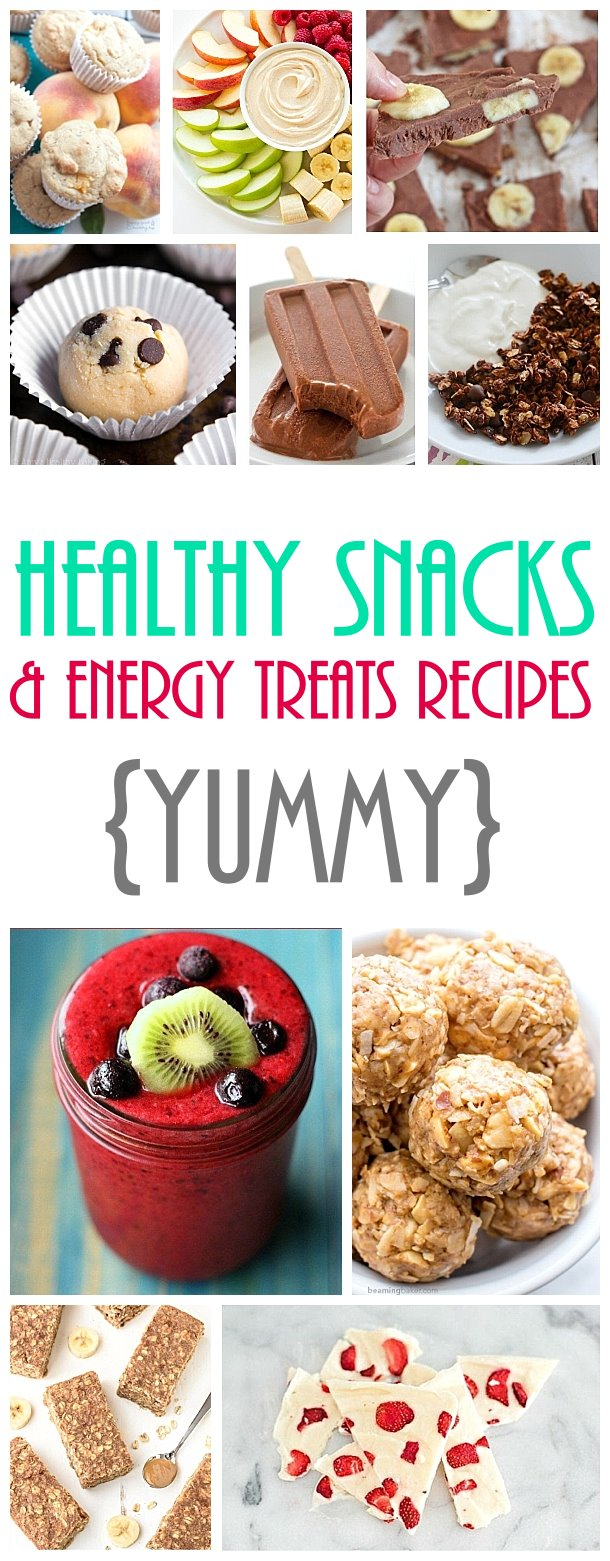 Healthy Snacks and Energy Treats Recipes - The Best Easy and Yummiest Recipes around! #healthysnacks #healthytreats #healthyafterschooltreats #healthyrecipes #healthyfood #healthy #healthydesserts