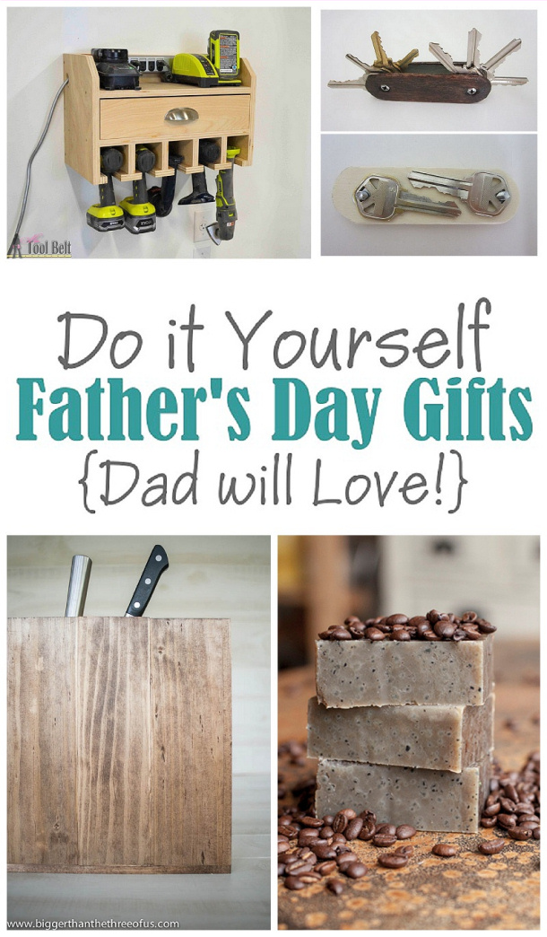 The Best Do it Yourself Projects for Dad this Father's Day! Any one of these would make the best handmade gift this year! #fathersday #diygiftsfordad