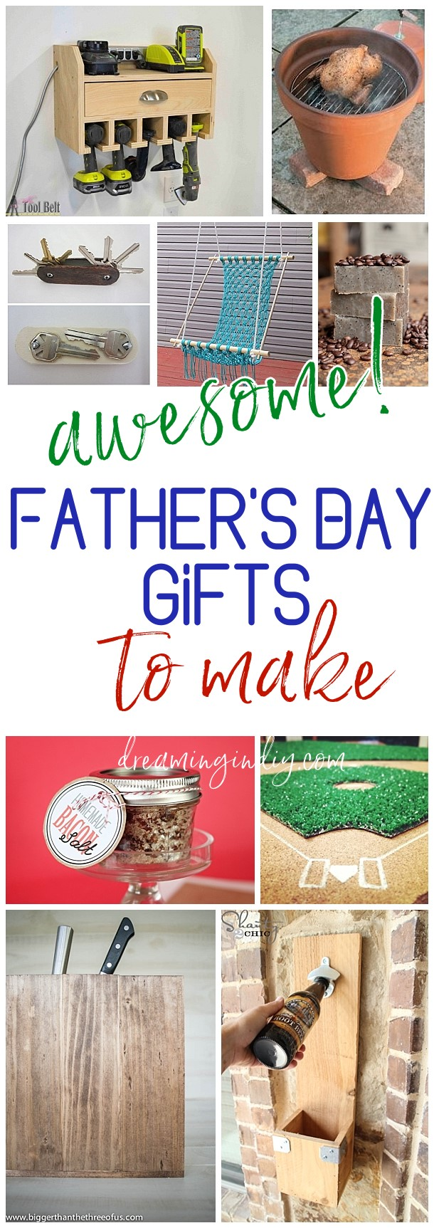 The Best Fathers Day Gifts to Make for Dads and Grandpas - Handmade DIY craft project tutorials - great masculine gifts for men and boys birthdays too! - Dreaming in DIY #fathersday #diygiftsfordad #giftsfordads #giftsforgrandpas #giftsforhim #masculinegifts #diygiftsforhim #fathersdayparty #diyfathersdaygifts