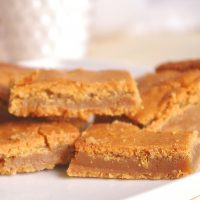 Blondies aka the Best Blonde Brownies Dessert Bars Recipe aka Easy Blondies Cookie Bars Recipe via Dreaming in DIY - The BEST (and so EASY) Blondies I've ever had! Ooey Gooey - The Caramelly texture of these is PERFECT and so Yummy!! #blondies #blondiesrecipe #easyblondies #easydesserts #dessertbars #cookiebars #cookiebarsrecipe