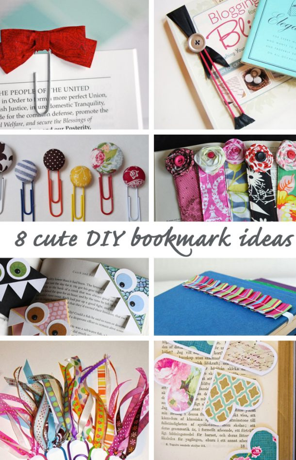 DIY Back To School Projects For Teens And Tweens Handmade DIY Bookmark Ideas  And Tutorials Via