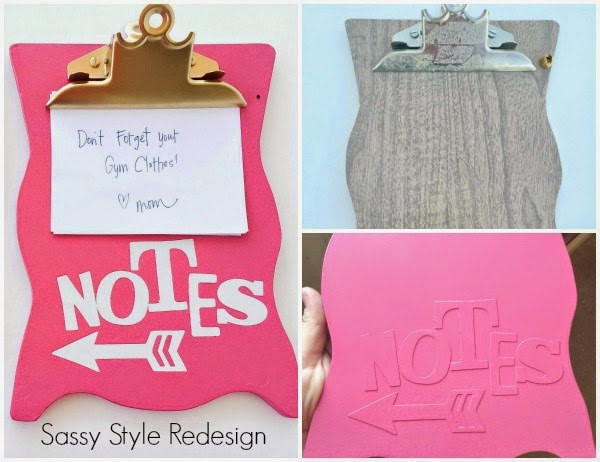 DIY Back to School Projects for Teens and Tweens Handmade do it yourself Magnetic Personalized Locker Decoration Clipboard Tutorial via Sassy Style Redesign