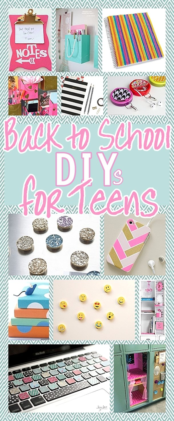DIY Back to School Projects for Teens and Tweens - Locker Decoration Ideas - Customized School Supplies and Organizers - accessories and more for the do it yourself TEEN or TWEEN #diysforteens #teendiys #backtoschool #diyschoolsupplies #diylockerdecorations #lockerdecorations #schoolsupplies #diysfortweens #tweendiys #teencrafts #bffgiftideas #bffgiftstomake #diybffgifts