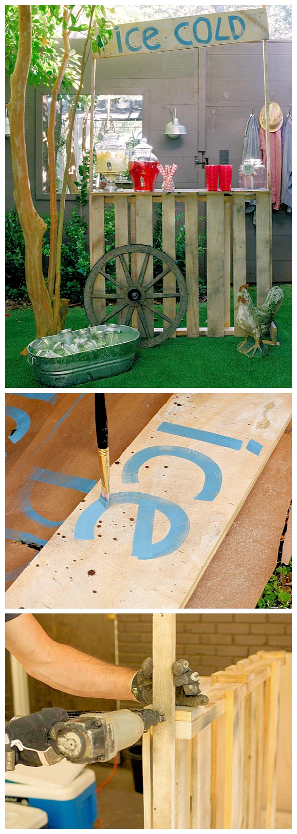 Diy pallet projects the best reclaimed wood upcycle ideas page 2 do it yourself pallet projects diy lemonade stand made from upcycled shipping pallets woodworking solutioingenieria
