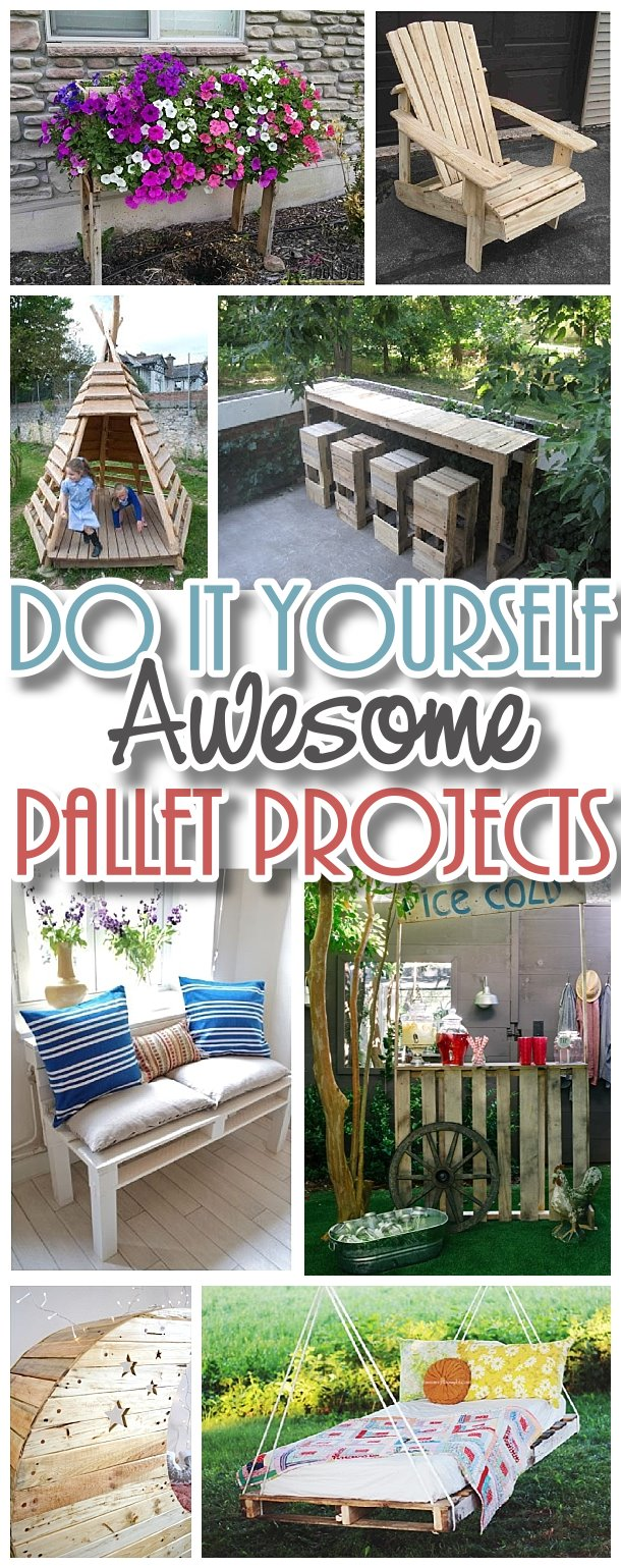 Do it Yourself Pallet Projects - The BEST DIY Tutorials to Upcycle old Wooden Shipping Pallets into reclaimed woodworking dream projects! #easypalletprojects #beginnerwoodworking #easywoodworkingtutorials #woodworkingtutorials #DIYprojects #easyDIYprojects #diyhomedecor #diyfurniture