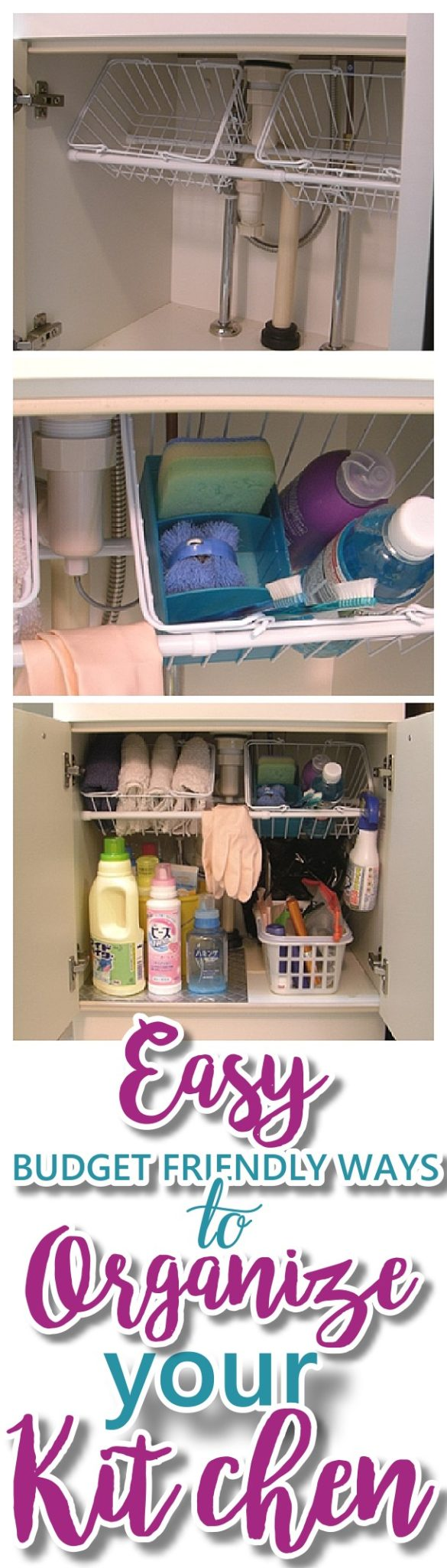 EASY Budget Friendly Ways To Organize Your Kitchen   The Very Best CHEAP,  Quick Tips