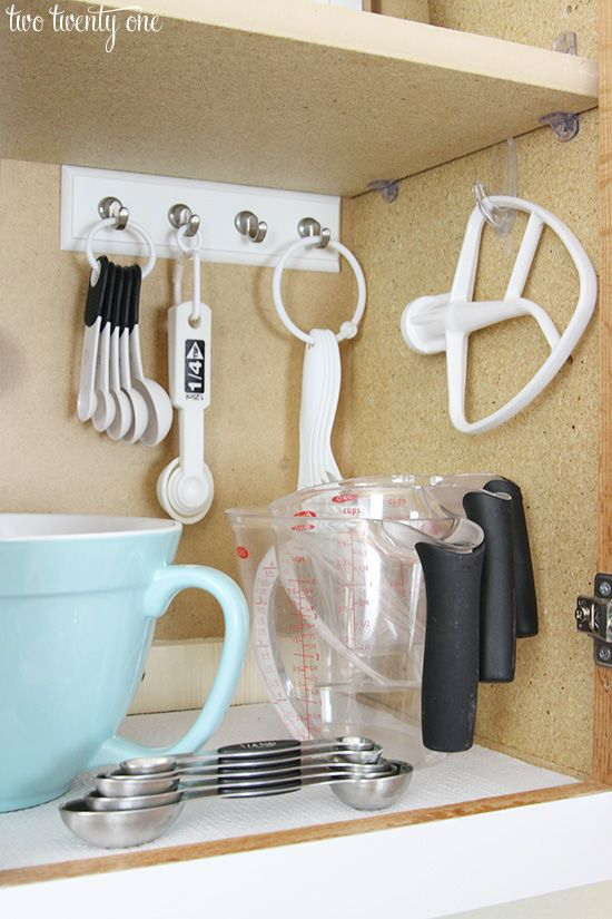 easy tips to organize the kitchen organized and pretty baking cabinet ideas and diy tutorial - Kitchen Organization Ideas