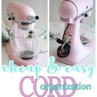 Cheap and Easy Way to Keep Cords for Small Appliances and Power Tools neatly Organized