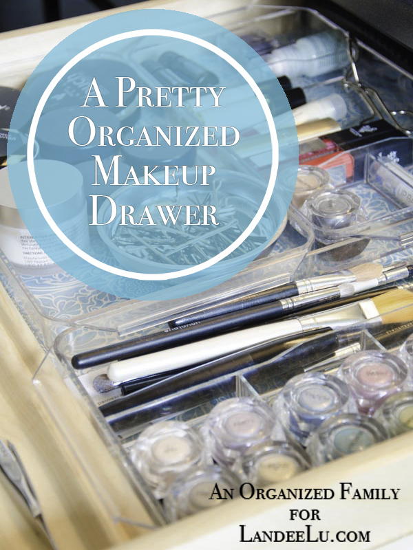 DIY Bathroom Organization Ideas - How to Organize your Makeup Drawer and make it pretty - tutorial via Landeelu #bathroomorganization #bathroomideas #bathroomhacks #bathroomtips #organizethebathroom