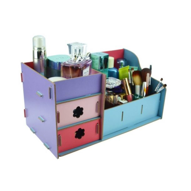 DIY Bathroom Organization Ideas - Inexpensive Makeup and Jewelry Organizer Kit Easy to Put Together and available in your choice of colors #bathroomorganization #bathroomideas #bathroomhacks #bathroomtips #organizethebathroom