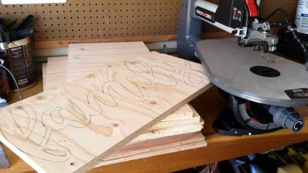 DIY Traced Word to Wood for Scroll Saw Word Art Scroll Saw woodworking project