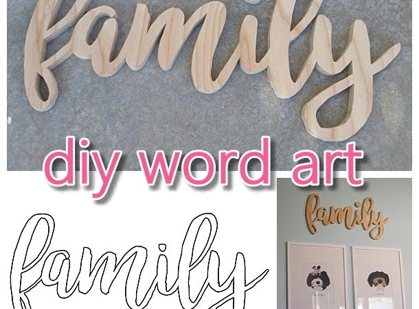 DIY Word Art Woodworking FREE Template woodworking pattern to create your own custom Do it Yourself Family Wall Decoration Pattern - Perfect for a Gallery Wall