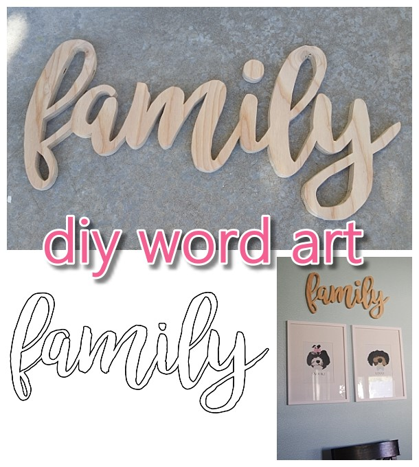 Do it Yourself Word Art {Easy Scroll Saw Woodworking DIY