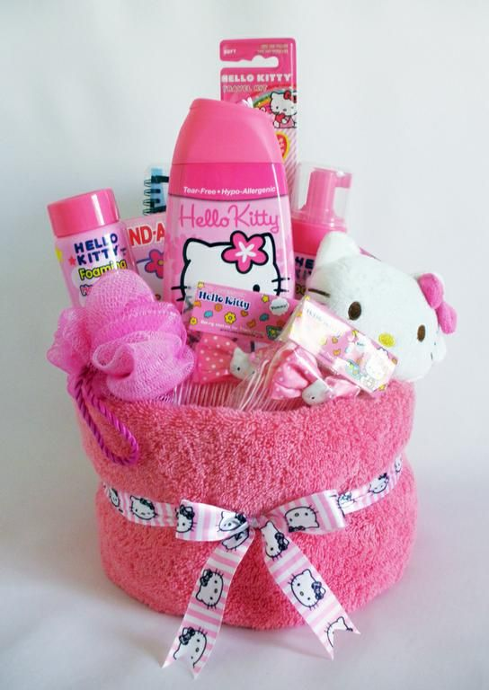 Do it yourself gift basket ideas for any and all occasions cute diy hello kitty theme gift bundle idea do it yourself gift baskets ideas for solutioingenieria Images