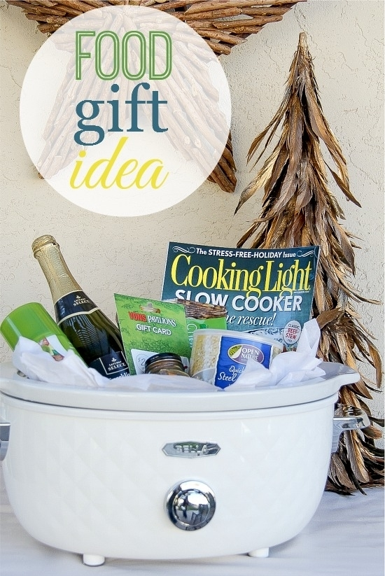 DIY Crockpot Gift Basket - Cute idea for Foodies via Tonya Staab - Do it Yourself Gift Baskets Ideas for All Occasions - Perfect for Christmas - Birthdays or anytime! #giftbaskets #giftbasketideas #diygiftbaskets #gifthampers #easygifts #giftideas #birthdaygifts #diybirthdaygifts #birthdaygiftideas