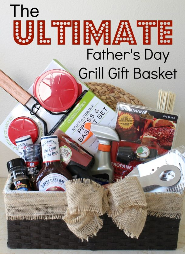 Grillmaster Items DIY for a Manly Gift Basket via A Girl in Paradise - Do it Yourself Gift Baskets Ideas for All Occasions - Perfect for Christmas, Thank you gifts, Birthdays or anytime! #giftbaskets #giftbasketideas #diygiftbaskets #gifthampers #easygifts #giftideas #birthdaygifts #diybirthdaygifts #birthdaygiftideas