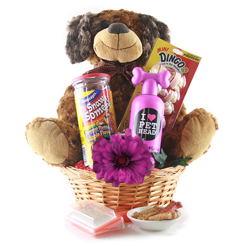 Darling New Pet Owner/Parent Gift Basket Ideas - Do it Yourself Gift Baskets Ideas for All Occasions - Perfect for Christmas, Thank You, Birthdays or anytime! #giftbaskets #giftbasketideas #diygiftbaskets #gifthampers #easygifts #giftideas #birthdaygifts #diybirthdaygifts #birthdaygiftideas