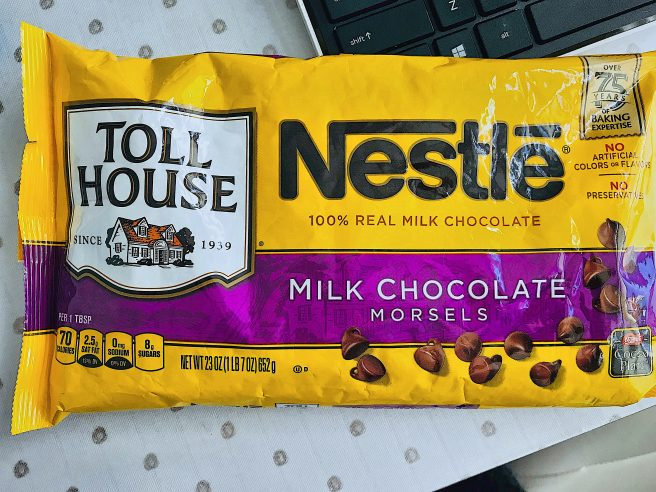 Nestle Milk Chocoalte Chips for Twixie Bars No Bake Dessert Recipe via Dreaming in DIY