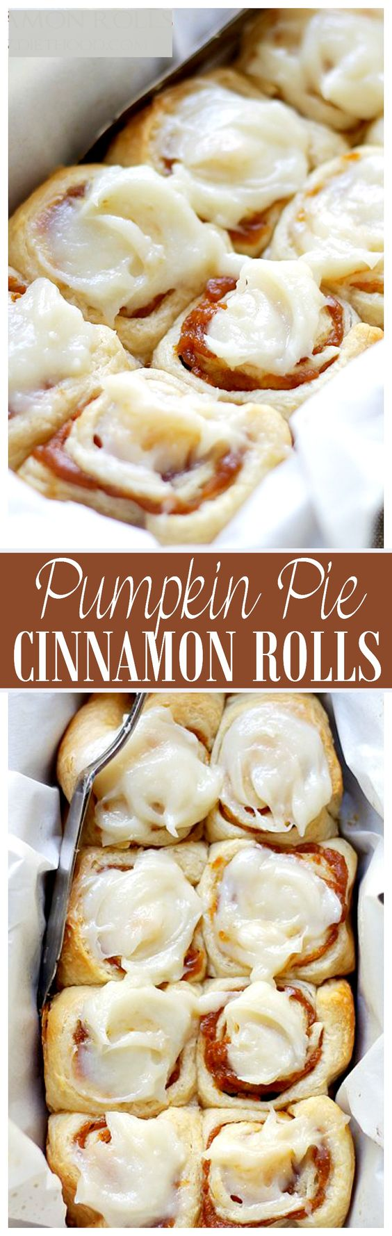 30 Minute Pumpkin Pie Cinnamon Rolls Recipe | Diethood - The BEST Cinnamon Rolls Recipes - Perfect Treats for Breakfast, Brunch, Desserts, Christmas Morning, Special Occasions and Holidays #cinnamonrolls #cinnamon #cinnamontreats #cinnamonrollsrecipes #cinnamondesserts #breakfastrolls #sweetrolls