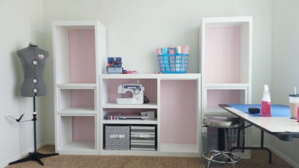 Diy craft room wall storage organizer unit furniture makeover after pics diy 90s entertainment center turned craft room storage organizer wall unit furniture makeover solutioingenieria Gallery