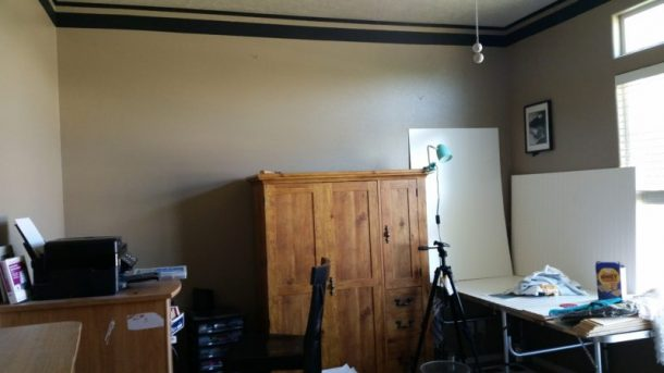 Craft Room Makeover Project Before Picture - Dreaming in DIY
