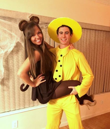 diy couples halloween costume ideas curious george and the man in the yellow hat