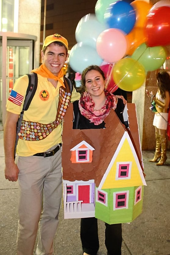 diy couples halloween costume ideas russell and the balloon house characters from the movie up - Funny Character Halloween Costumes