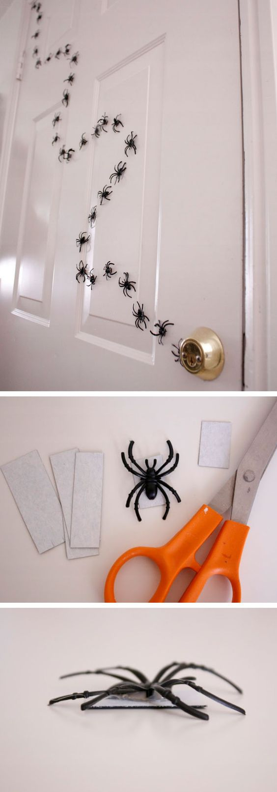 EASY and CHEAP Magnetic Halloween Spiders Decorations | Delia Creates - Spooktacular Halloween DIYs, Crafts and Projects - The BEST Do it Yourself Halloween Decorations #halloween #halloweendecorations