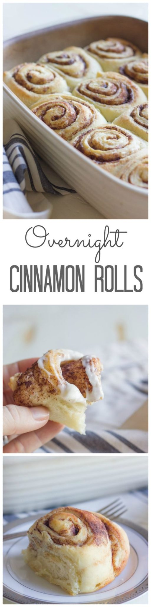 Overnight Cinnamon Rolls With Cream Cheese Frosting Recipe | Lovely Little Kitchen - The BEST Cinnamon Rolls Recipes - Perfect Treats for Breakfast, Brunch, Desserts, Christmas Morning, Special Occasions and Holidays #cinnamonrolls #cinnamon #cinnamontreats #cinnamonrollsrecipes #cinnamondesserts #breakfastrolls #sweetrolls