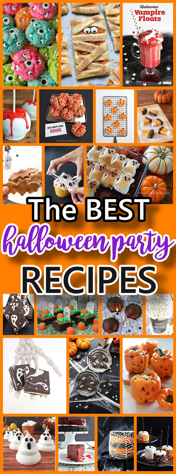 THE BEST Halloween Party Treats Appetizers and Desserts Recipes #halloween #halloweenrecipes