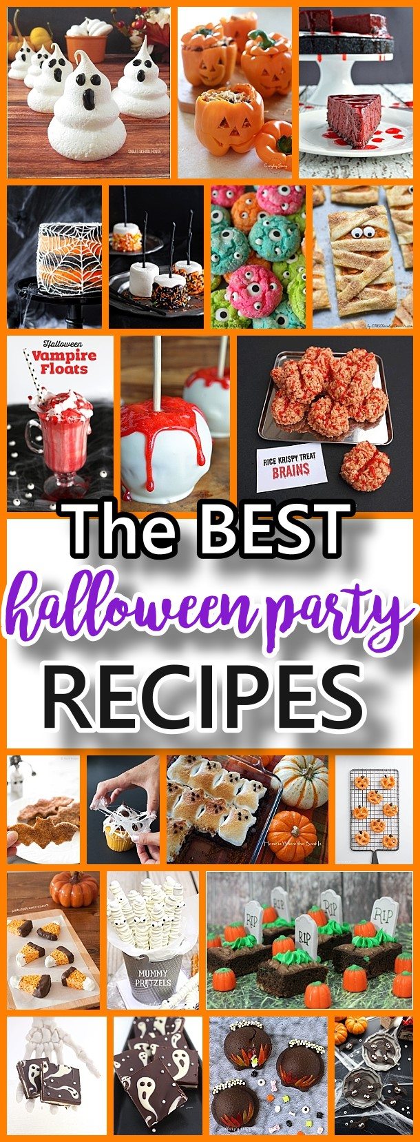 THE BEST Halloween Party Treats - Appetizers and Desserts Recipes #halloween #halloweenrecipes