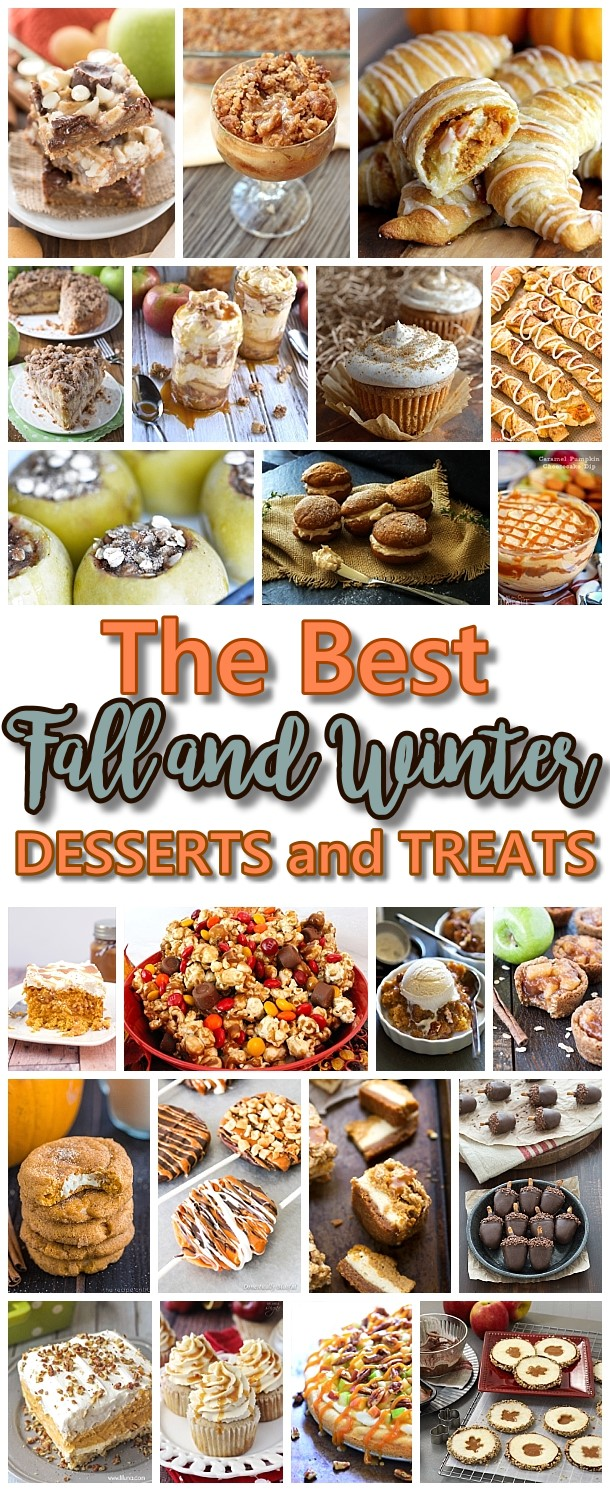 The BEST Fall Harvest and Winter Desserts & Treats Recipes {Perfect for Your Thanksgiving Dessert Table and Christmas Holiday Party Trays} #falldesserts #winterdesserts #christmasdesserts #thanksgivingdesserts #partydesserts #holidaydesserts #cinnamondesserts #carameldesserts #pumpkindesserts #appledesserts