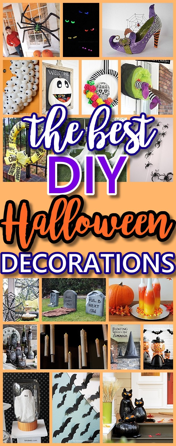 The BEST Do it Yourself Halloween Decorations {Spooktacular Halloween DIYs, Handmade Crafts and Projects!} #halloween #halloweendecorations