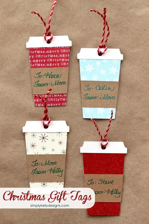 Coffee or Latte Container Christmas Gift Tags With Free Cut File | Simply Kelly Designs - The BEST Christmas and Holiday FREE Printables - Gift Tags - Gift Card Holders - Christmas Greeting Cards and more FREE Downloadable Printables for the Holiday Seasons #christmasprintables #freechristmasprintables #christmascards #christmasgifttags #printablechristmascards #printablechristmasgifttags #christmaspapercrafts