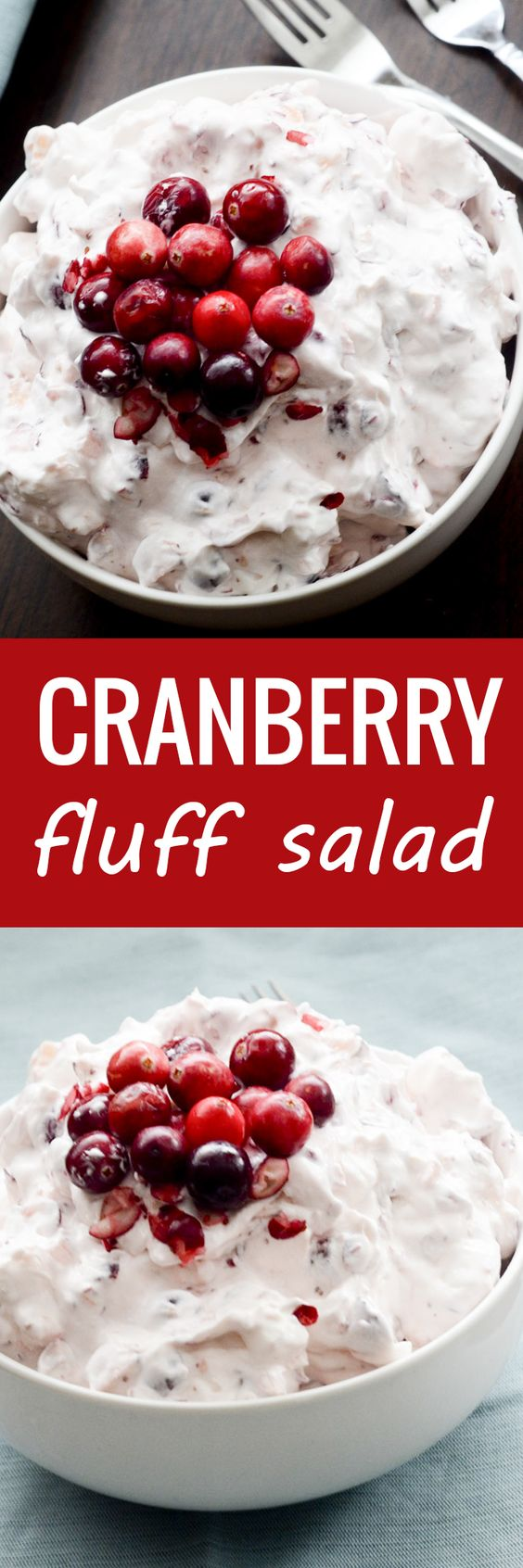 Cranberry Fluff Salad Recipe | Recipe Diaries - The BEST Classic, Improved and Traditional Thanksgiving Dinner Menu Favorites Recipes - Main Dishes, Side Dishes, Appetizers, Salads, Yummy Desserts and more!