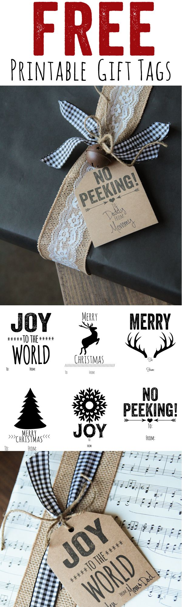 Cutest Ever FREE Printable Christmas Gift Tags | Printable Decor - The BEST Christmas and Holiday FREE Printables - Gift Tags - Gift Card Holders - Christmas Greeting Cards and more FREE Downloadable Printables for the Holiday Seasons #christmasprintables #freechristmasprintables #christmascards #christmasgifttags #printablechristmascards #printablechristmasgifttags #christmaspapercrafts