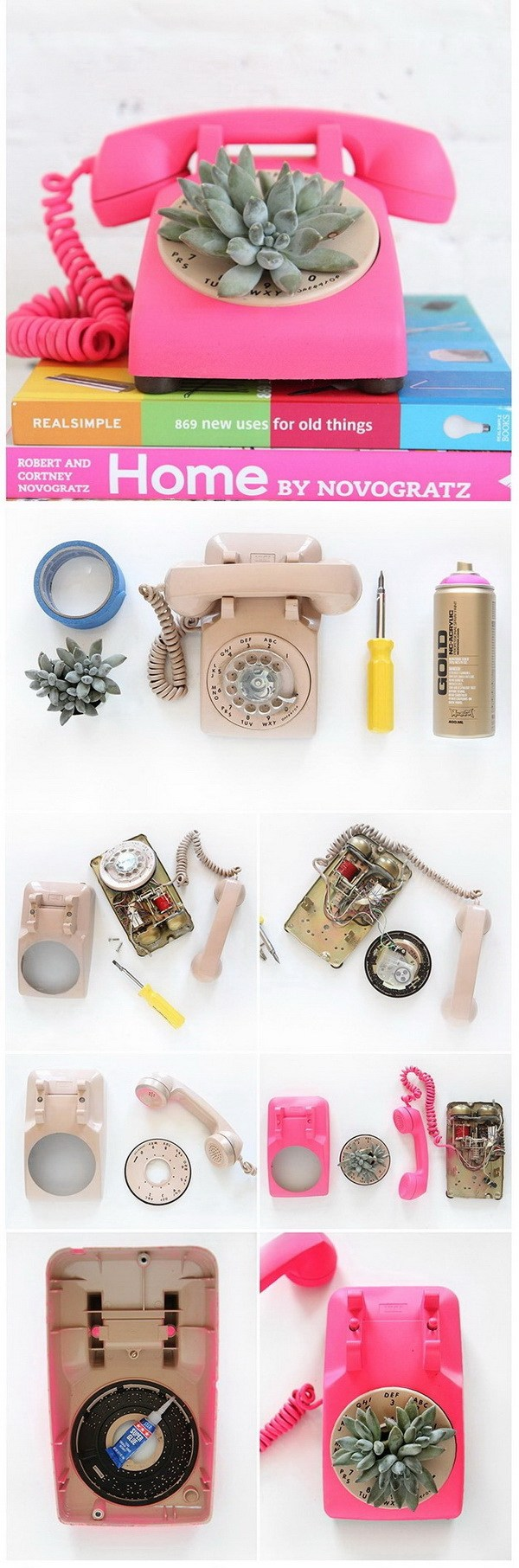 The best do it yourself gifts fun clever and unique diy craft diy rotary phone succulent planter tutorial ispy diy the best do it yourself gifts solutioingenieria Choice Image