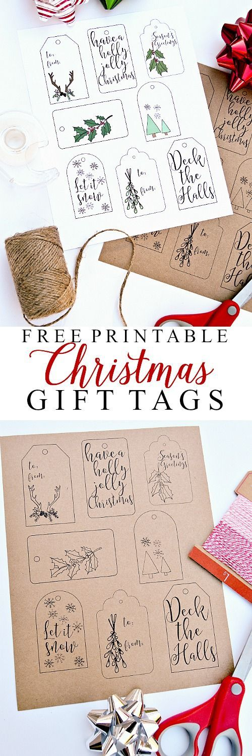 The Best Free Christmas Printables Gift Tags Holiday Greeting Cards Gift Card Holders And More Fun Downloadable Paper Craft Winter Freebies Dreaming In Diy